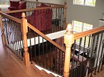 Custom Wood Staircase and Railing